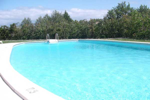 The outdoor swimming pool