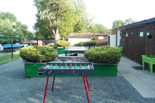Table football and table tennis
