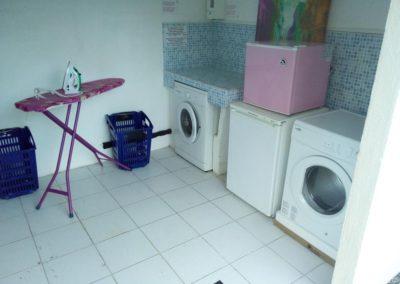 Washing and ironing area